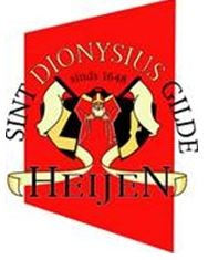 Inhalen, huldiging en receptie van het nieuwe koningspaar van St. Dionysiusgilde Heijen.